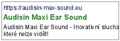 Audisin Maxi Ear Sound